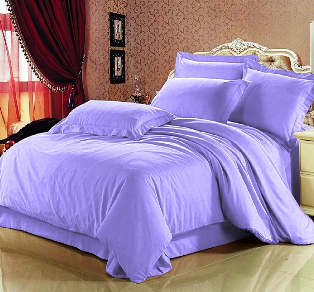 Комплект постельного белья  Сатин Премиум Сирень