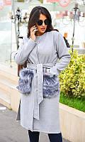 Пальто 858199-7 светло-серый 50-52 52-54