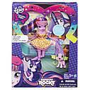 Кукла и питомец Искорка Twilight Sparkle - Девушки Эквестрии - Пижамная вечеринка  My Little Pony Equestria , фото 2