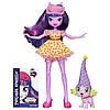 Кукла и питомец Искорка Twilight Sparkle - Девушки Эквестрии - Пижамная вечеринка  My Little Pony Equestria