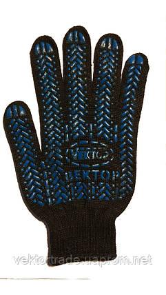 Перчатка с ПВХ покрытием  арт. 622 (черн.) (10\200 шт), фото 2