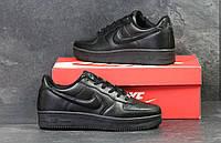 Кроссовки мужские Nike Air Force код товара SD-4710. Черные