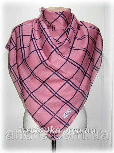 Платки на натуральной основе Клетка, розовый