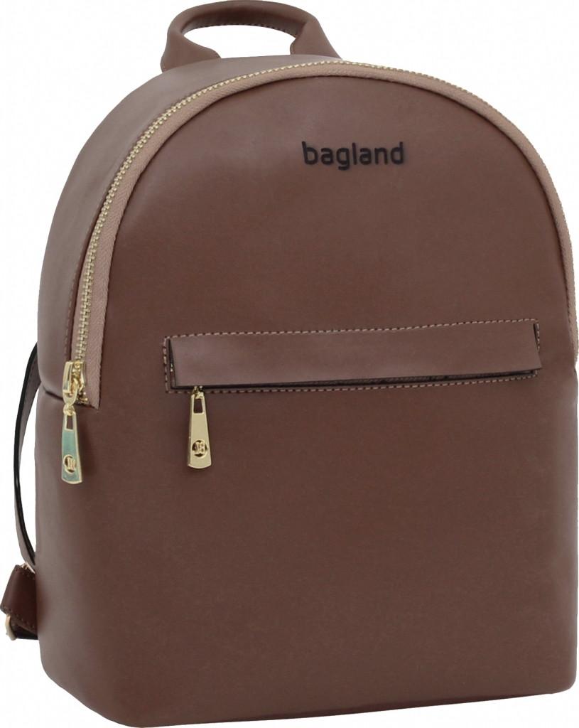 Женский рюкзак кожаный Bagland Stella 6л. коричневый (рюкзаки женские,
