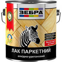 """Лак паркетный алкидно-уретановый """"Зебра"""" 2,5 кг"""