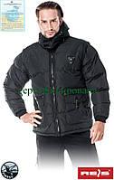 Куртка зимняя овчинкой с отстегивающимися рукавами рабочая Reis Польша (утепленная рабочая одежда) DARKNIGHT B