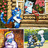 """Картины """"Синие коты"""" художницы Ирины Зенюк среди новинок марта"""