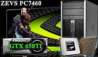 Отличный Игровой ПК ZEVS PC7460 Phenom II X4 + GTX650TI 1GB