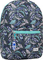 Городской рюкзак трансформер Bagland 16л. Перья (рюкзак женский, мужской рюкзак, наплічник, рюкзачок)