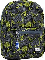 Городской рюкзак трансформер Bagland 16л. серый/салатовы (рюкзак женский, мужской рюкзак, наплічник, рюкзачок)