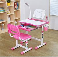 Комплект Детская парта и стульчик, лампа и подставка,Cantare  3 цвета