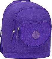 Детский рюкзак школьный Bagland Heart 9л. фиолет (школа, рюкзаки детский, дитячий рюкзак, наплічник, рюкзачок)