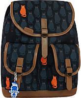 Женский рюкзак городской Bagland Amy 16л. Коты (рюкзаки женские, жіночий рюкзак, наплічник, рюкзачок)