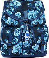 Женский рюкзак городской Bagland Amy 16л. Синие розы (рюкзаки женские, жіночий рюкзак, наплічник, рюкзачок)