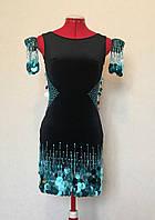 Платье для бальных танцев латина с пайетками