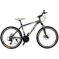 "Горный Велосипед Titan Focus 26""×15"" (Gray/Green/White)"