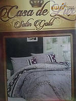 """КОМПЛЕКТ СПАЛЬНЫЙ """"CASA DE LUX"""" satin gold ПОЛУТОРНОЕ (150 Х 220 СМ)"""