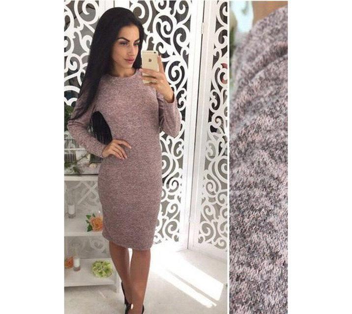Женское платье из ангоры Rondo / размер 42,44,46,48 цвет пудра
