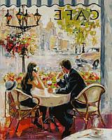 Картина по номерам Французское кафе (NB873) 40 х 50 см DIY Babylon Premium