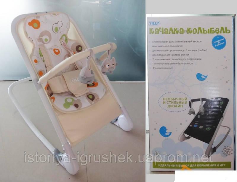 Детский шезлонг Baby Tilly BT-BB-0005 (цвета в ассортименте)