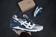 Мужские кроссовки Asics GEL (синие), ТОП-реплика, фото 1