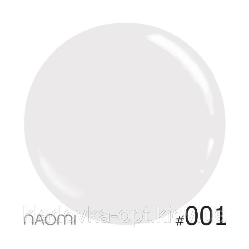 Декоративный лак Naomi 001 (белый), 12 мл