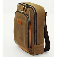 Кожаный рюкзак Vatto бежевый crazy