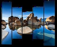 Модульная картина Большие камни
