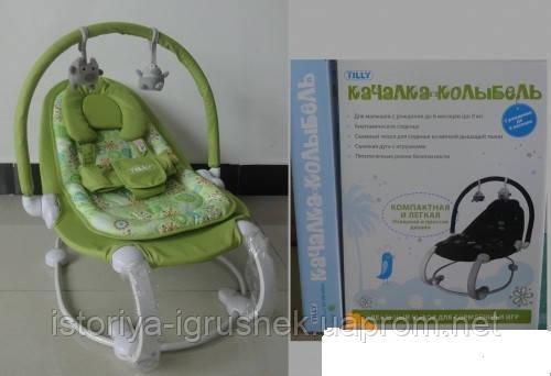 Детский шезлонг Baby Tilly BT-BB-0004 (цвета в ассортименте)