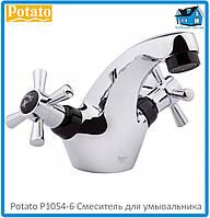 Смеситель для умывальника Potato P1054-6