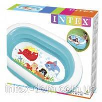 INTEX 57482 Детский бассейн надувной Овал прозрачный 163х107х46см купить в киеве