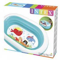 INTEX 57482 Детский бассейн надувной Овал прозрачный 163х107х46см купить в киеве, фото 1