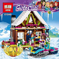 "Конструктор Friends Lepin 01040 ""Горнолыжный курорт: шале"" 434 деталей. Аналог Lego Friends 41323"