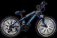 "Велосипед подростковый Titan Street 24""×12"" (Black-Blue-White), фото 1"
