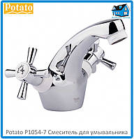 Смеситель для умывальника Potato P1054-7