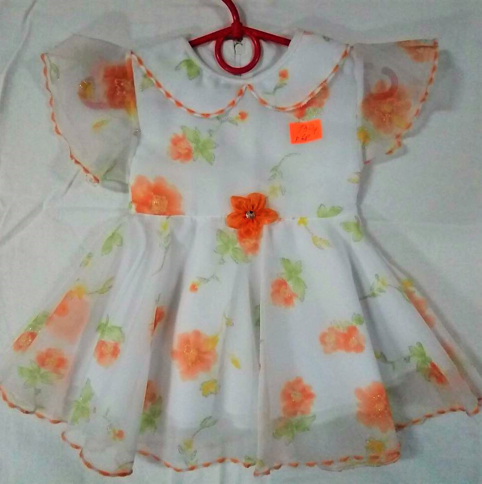 Платье с оранжевыми цветами