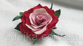 Шпилька гумка трояндочка ручної роботи