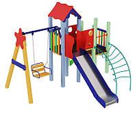 Детский игровой комплекс + качели Ласточка ( горка 1,5 м), фото 1
