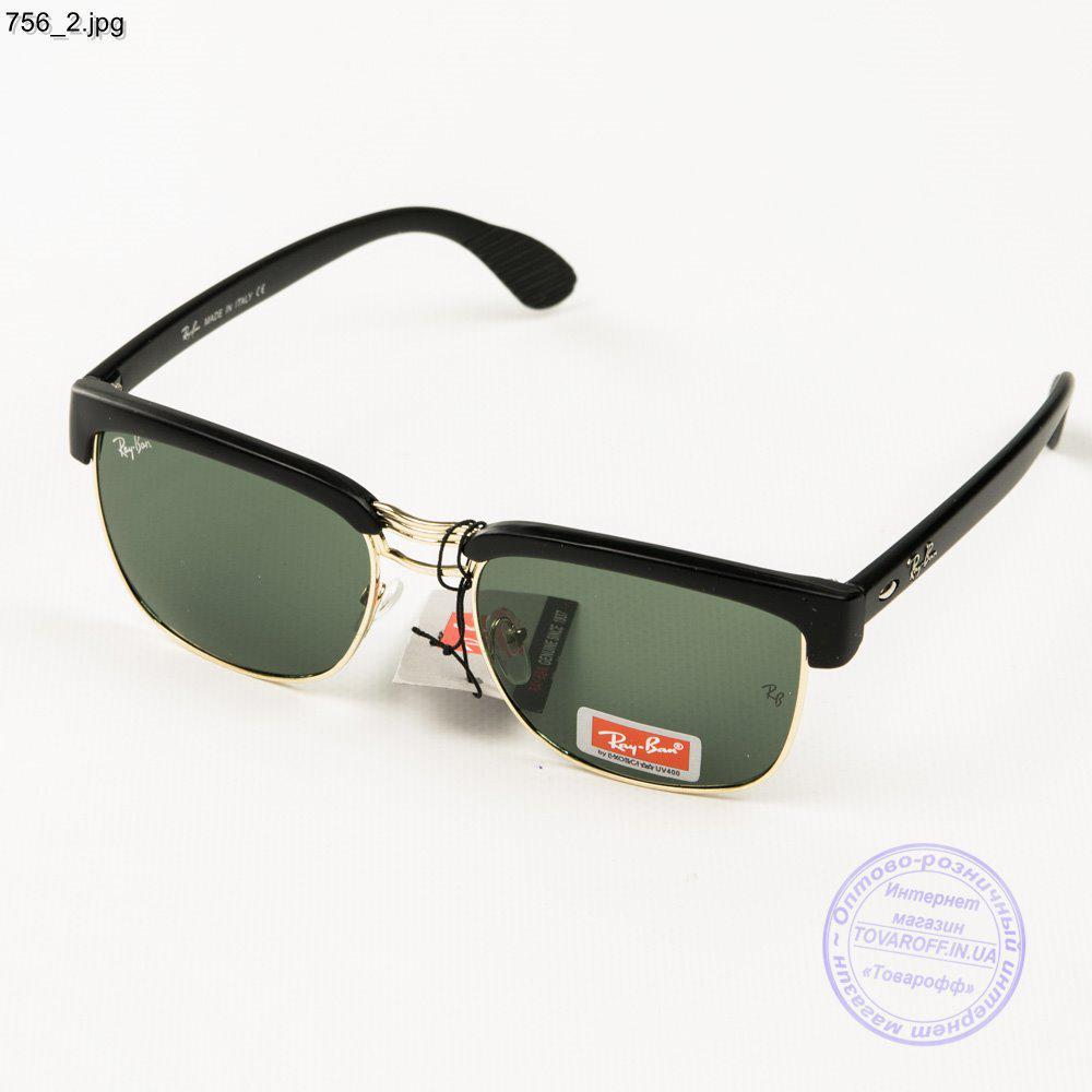 Солнцезащитные очки Ray-Ban Clubmaster со стеклянной линзой - 756