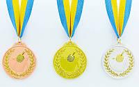 Медаль спортивная с лентой двухцветная  Пинг-понг