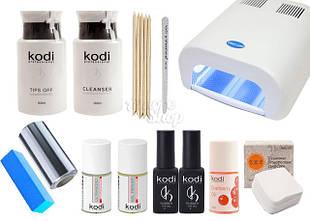 Стартовые наборы для покрытия гель-лаком и наращивания ногтей Kodi
