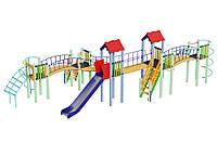 Детская площадка с мостиками Змейка высота горки 1,5 м, фото 1
