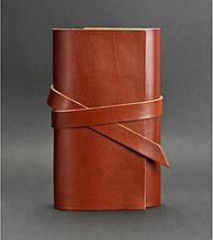 Кожаный блокнот (софт-бук) c лентой-застежкой