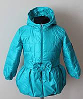 Детская курточка для девочек 1-4 года бирюзового цвета, фото 1