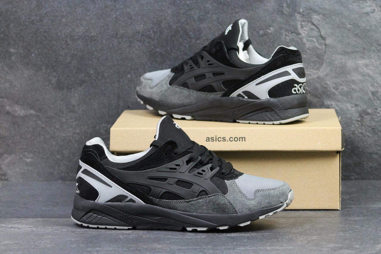 a9525dfa Мужские кроссовки Asics Gel Kayano Trainer черные с серым (Реплика ААА+) -  bonny