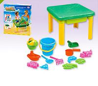 Детский столик-песочница с крышкой 8801 ***