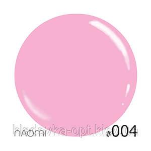 Декоративный лак Naomi 004 (нежно-розовый, кукольный), 12 мл