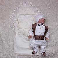 Крестильный набор для мальчика Любовь+Фрак, шоколад