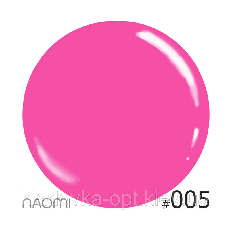 Декоративный лак Naomi 005 (розовый), 12 мл