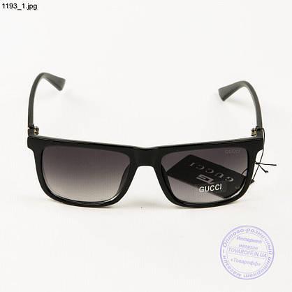 Брендовые солнцезащитные очки Gucci - Черные (реплика) - 1193, фото 2